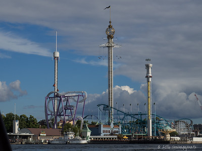 Gröna Lund, a well known amusement park in the island of Djurgården