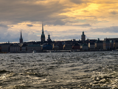Stockholm evening skyline