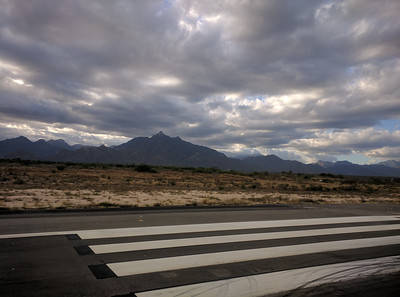 Mountains at threshold of Rwy 16.
