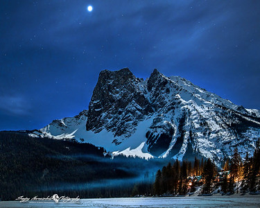 Emerald Lake Under Moonlight