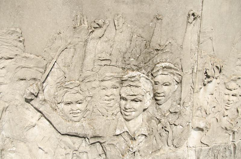 Intricate sculpture at Che Guevara Memorial in Santa Clara