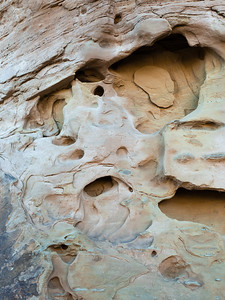 Eroded holes in sandstone wall near Balcony House.