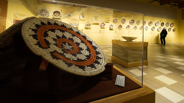 Basket weaving exhibit at the Anasazi Heritage center.