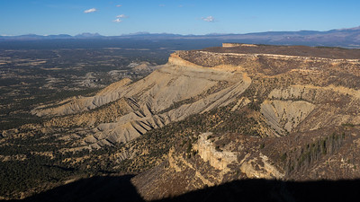 Knife Edge ridge in Mesa Verde, late afternoon.