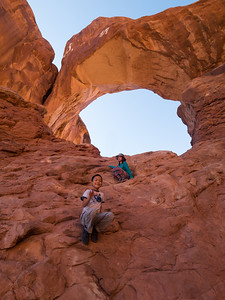 Nolan and Lindsay underneath Double Arch.