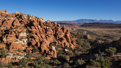 Fiery Furnace and La Sal Mountains.