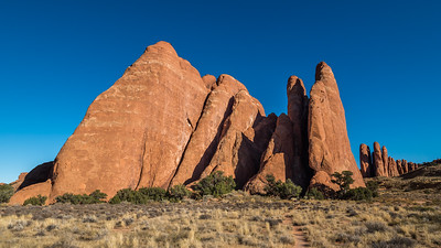 Sandstone Fins at Sand Dune arch.
