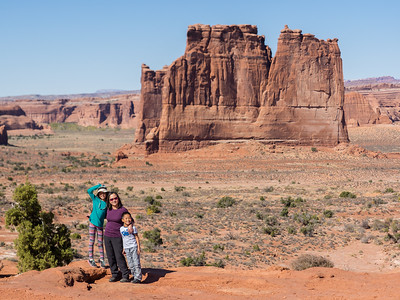 Standing in front of the Organ rock formation.