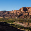 The Colorado River along route 279 at the Corona Arch trail head.