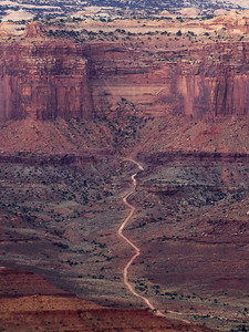 Potash road leading towards Canyonlands National Park, from Dead Horse Point State Park.