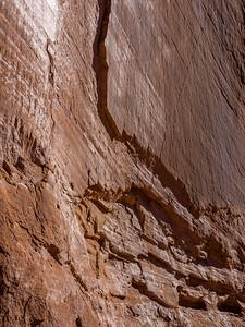 Sandstone wall at Corona Arch.
