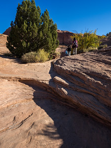 Along the Corona Arch trail.