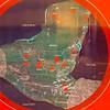 Mayan ruins - map