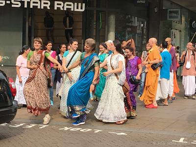 Dancing in the Street - Lord Krishna devotees