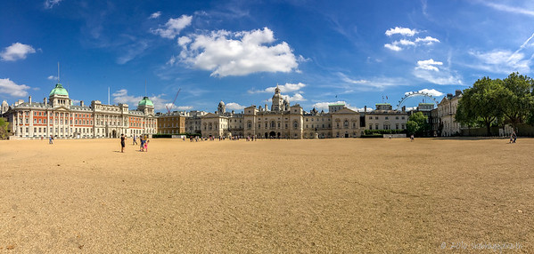 L-R: Old Admiralty Buidings, Horse Guards, Dover House, Treasury Block
