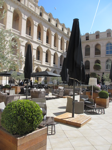 Terrace at the Intercontinental Marseille