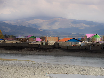 Bayan Ulgii with the Altai Mountains in the background