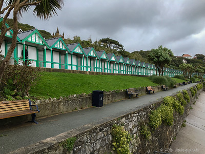 The beach huts of Langland