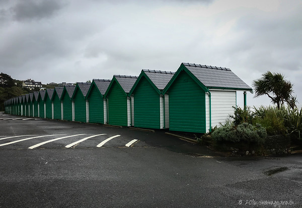 The famous beach huts of Langland