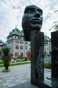 Quebec City if full of interesting art and sculptures.