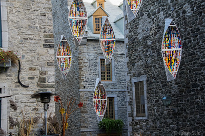Quebec City (especially old Quebec City) is full of interesting and very creative art as seen here.