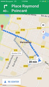 "We chuckled that everything in Paris seemed to be an estimated ""20 minute"" walk."