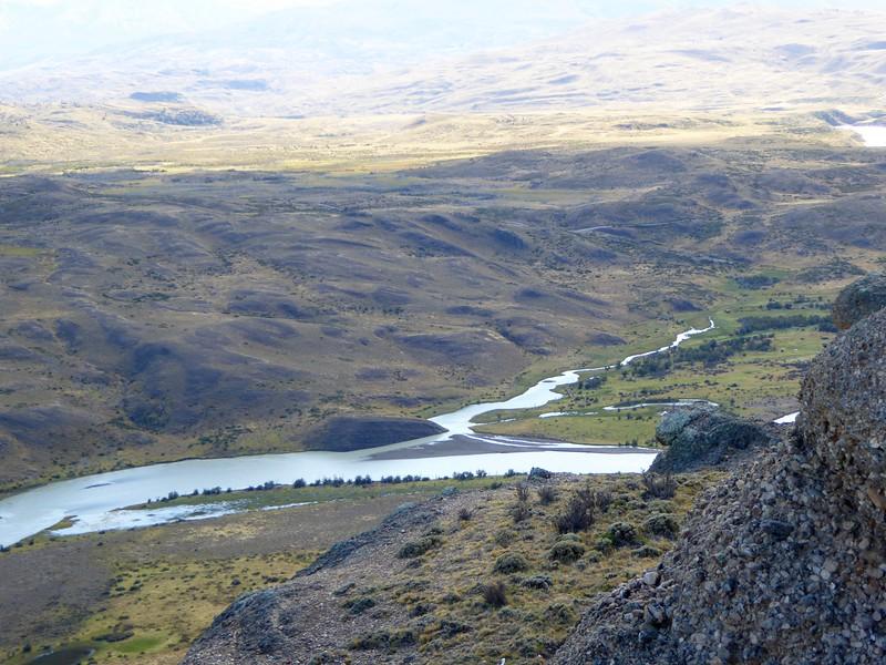 River valley in Torres del Paine