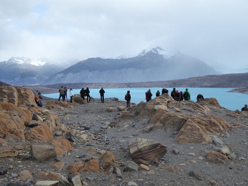 Alpine lake formed by Upsala Glacier