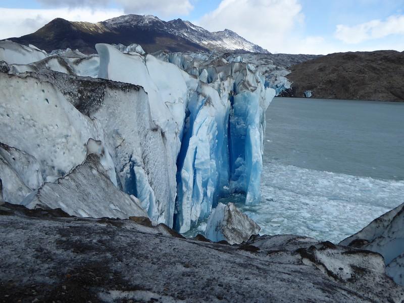 Viedma Glacier terminal face from top of glacier