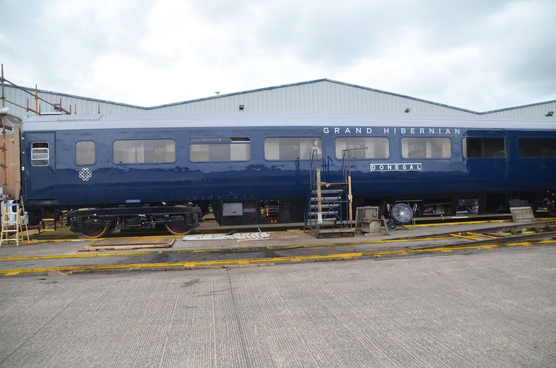 Another Belmond Mk3 carriage undergoing refurbishment , Named ''Donegal''. Mon 27.06.16