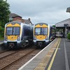 3021 at Whitehead on the 1015 to Great Victoria St while 3006 heads the other way with the 0915 GVS / Larne Harbour. Sat 25.06.16
