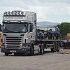 A lorry waits to transport the UK 4''8 bogies from Mivan. Mon 27.06.16