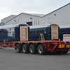 Belmond Mk3 carriages outside Mivan Factory, Antrim. Mon 27.06.16