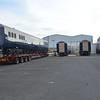 Mk3 EGV 7601 alongside 3 other Belmond Mk3 carriages, Mivan, Antrim. Mon 27.06.16