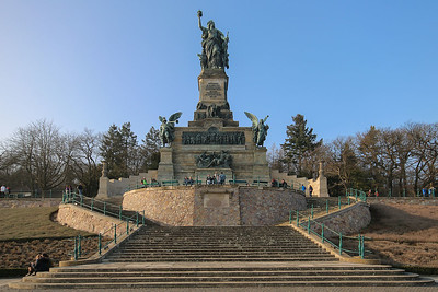 Photo downloaded from Wikipedia of the Niederwalddenkmal manument near Rudesheim, Germany