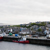 The Stromness water front as our ferry from Scrabster arrived.