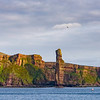 This is how the Old Man of Hoy appeared to us on the ferry from Scrabster to Stromnes.