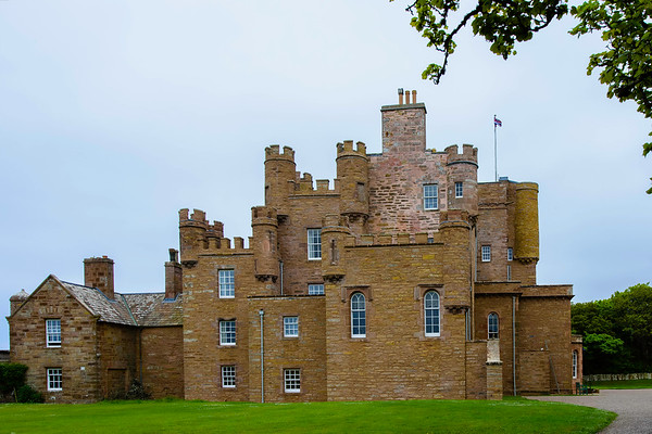 """The Castle of Mey (formerly Barrogill Castle) is a """"small"""" castle located in Caithness, on the north coast of Scotland. It is the most northerly inhibited castle in Scotland. (Prince Charles still uses it.)<br /> <br /> Queen Elizabeth, the Queen Mother, acquired it in 1952 when it was in poor repair and rebilitated it."""