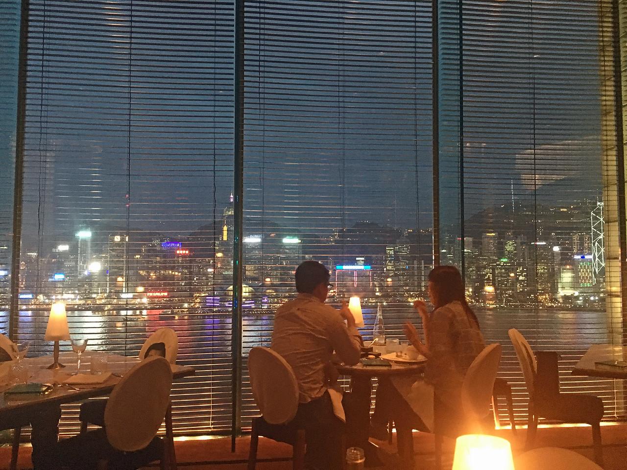View from Felix restaurant in Peninsula Hotel