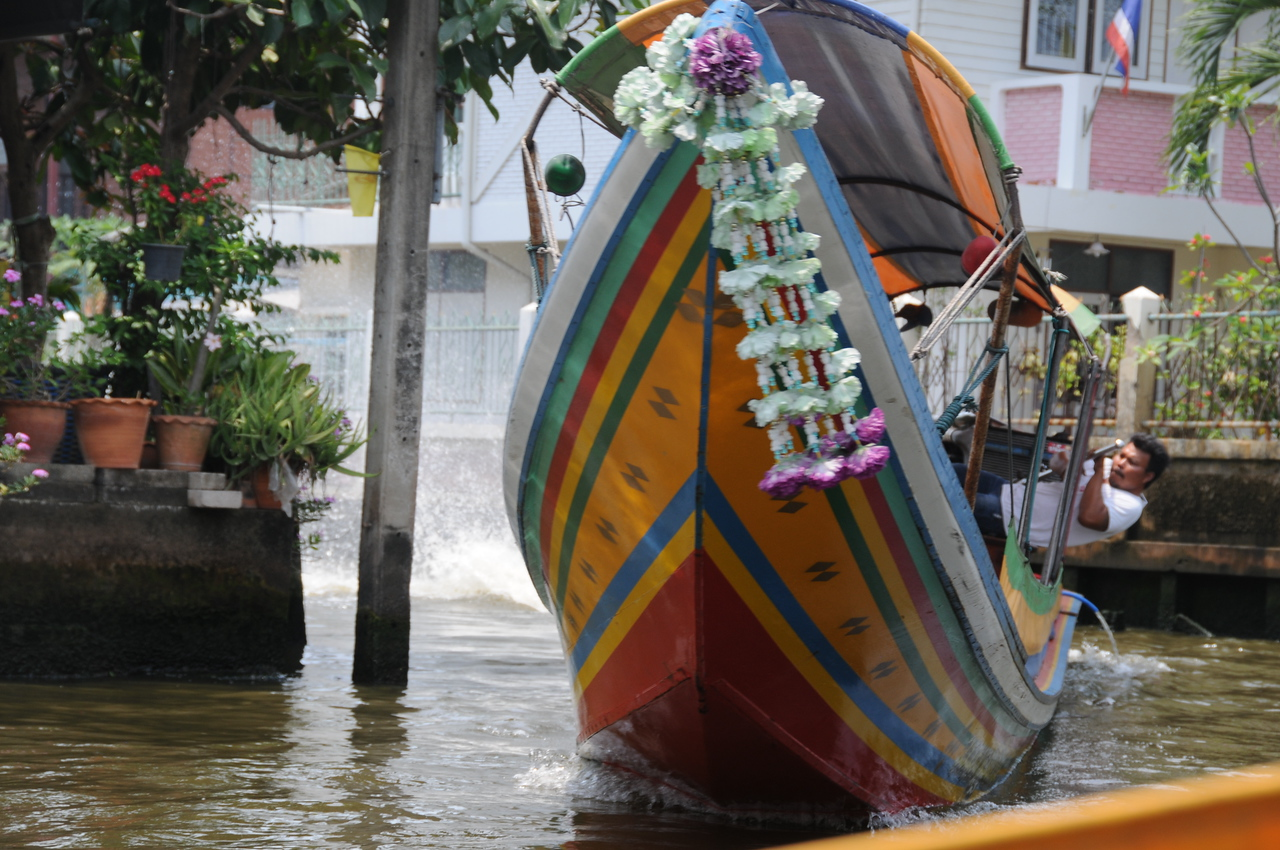 Longtail boat canal tour