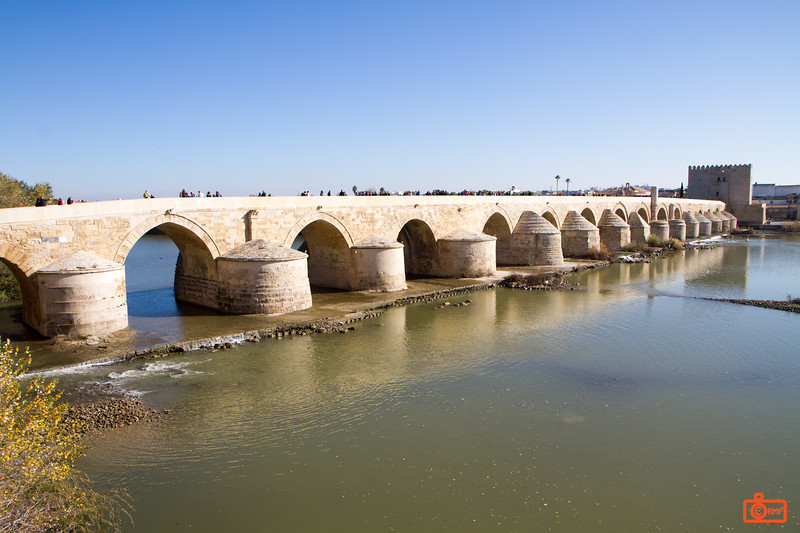 This Roman bridge in Cordoba was built in the 1st century BC.