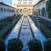 The Court of the Water Channel, part of the Palacio de Generalife in the upper Alhambra.