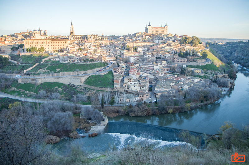 An early morning view of the town of Toledo.