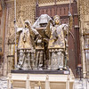 The tomb of Christopher Columbus in the Cathedral of Seville.