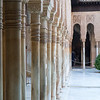 These columns line the Patio of the Lions in the Palace of the Lions of the Alhambra.