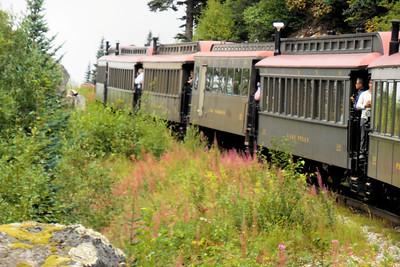Train into the Yukon (Canada) Iphone and Nikon