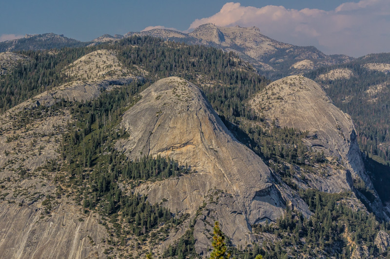 Rock formations viewed from Glacier Point (likely pillow lava formations).