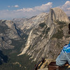 Half Dome with Yosemite Valley