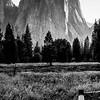 Cathedral Peak Over Yosemite Valley (B&W)