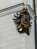 The double eagle is everywhere today. I *think* it stands for the Holy Roman Empire.
